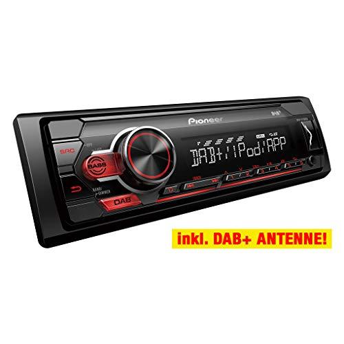 Pioneer MVH-S210DAB 1-DIN Autoradio-Set für LKW/Truck/Bus/24 Volt/24V (Volt Radio 24)