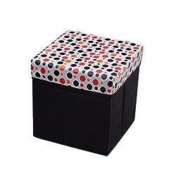 A'Elegance White Circle Design Stool / Storage Box / Laundry box / Organiser ( SRG_SR-013 )