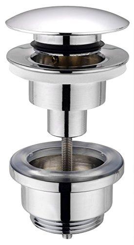 cornat push up druckknopf-ablaufventil 1 1/4 zoll für waschtisch, chrom, t317421oh - 416wzVucNaL - Cornat Push Up Druckknopf-Ablaufventil 1 1/4 Zoll für Waschtisch, chrom, T317421OH