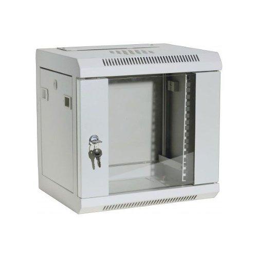 DEXLAN 25,40cm (10u0022) Wandgehäuse, 6 HE, RAL 7035 grau günstiges Wandgehäuse für private oder kleinere betriebliche Anwendungen (754710)