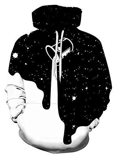 Herren 3D Druck Hoodie, SummerRio Kapuzenpullover Sweatshirt 3D Aufdruck Unsiex Wolf/Schädel Langarm mit Kapuze Tasche S-3XL Milk