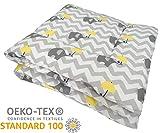 Manta para bebé de gatear y Alfombra de juego para bebés, Parque bebe 100x100 / 120x120 y 100% algodón, OEKO-TEX, SWADDYL (100x100)