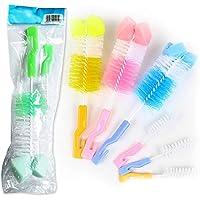 JER Set de Limpiador de Biberones,Cepillo para Biberones,Cepillo de Limpieza,Limpieza de Biberón Escobilla para Limpiar Biberón Botella para bebé(2pcs/color aleatorio)