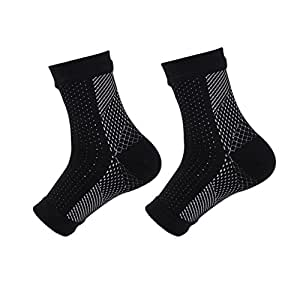 STEELEMENT Compression Foot Sleeves Ankle Socks Men & Women