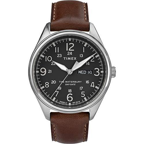 Timex Herren Analog Quarz Uhr mit Leder Armband TW2R89000