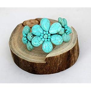 Türkis bead bracelet, Türkis-Armband, Hochzeitsgeschenke, Geschenk der Mutter Tages