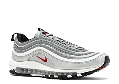 "Nike Womens Air Max 97 OG QS ""Silver Bullet La Silver"" - Metallic Silver/Vrsty Rd Trainer"