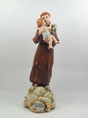 Sparta Capodimonte Figur Porzellan Figur Sant \'Antonio von Padua cm 22x 8cm