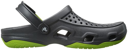 Crocs Herren Swiftwater Deck Clog Men Grau (grafite / Volt Verde)