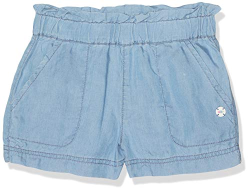 NOP Mädchen G Woven Beeville Shorts, Blau (Light Blue Wash P045), 146 (Chambray Shorts Mädchen)