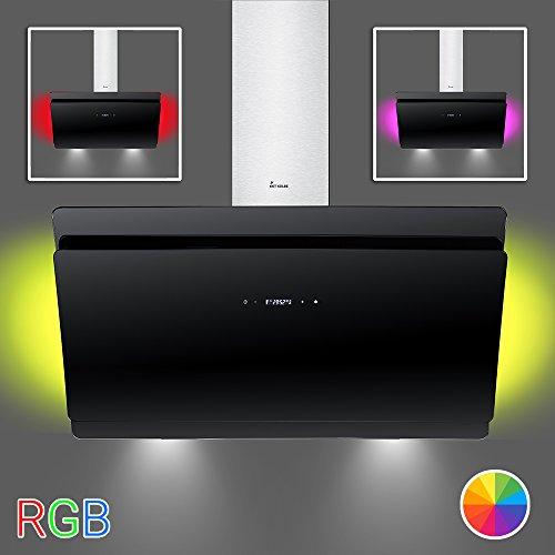 KKT KOLBE SOLO80SM Wand-Dunstabzugshaube/80 cm kopffrei/schwarz/SensorTouch Display/Nachlauffunktion/LED-Beleuchtung/Leichte Montage (Dunstabzugshaube Wand)