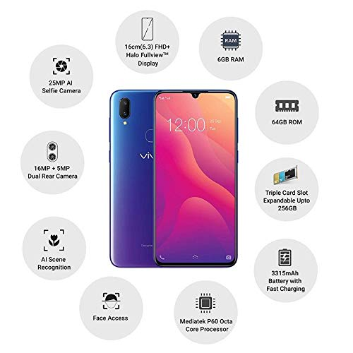 Vivo V11 Pro (Starry Night Black, 6GB RAM, 64GB Storage)