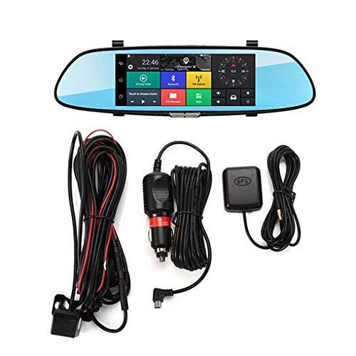 "Minzhi 7"" 3G WiFi 1080P HD-Doppelobjektiv-Auto Rückspiegel DVR-Schlag-Kamera GPS Navigator Android Cam"
