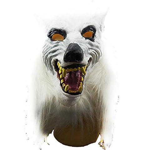 LQZ Wolf Maske Halloween Maske Tiermaske Horror Masken für Erwachsene