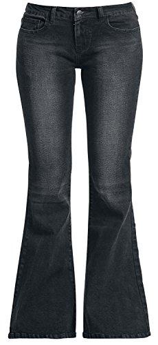 Black Premium by EMP Leila (Boot-Cut) Jeans donna nero W30L34