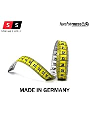 Burman HOECHSTMASS Standard Flexible Poly Fiber Measuring Tailoring Tape (150 cm/60-inch, Yellow and White)