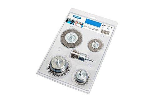 Osborn Drahtbürstenset für Bohrmaschine, Set 5-teilig für Metall, 1 Stück, 6818600005