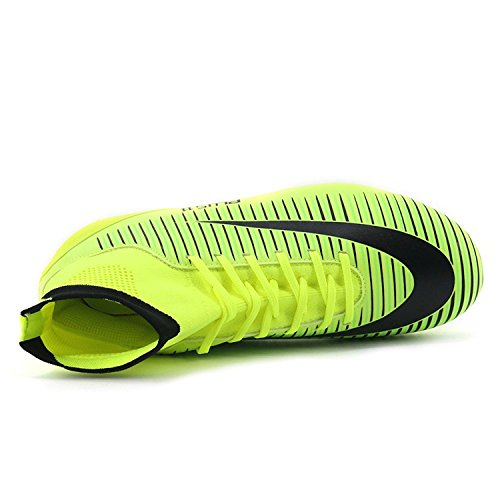 BOLOG Größe EU35-45 Fußballschuhe AG Spike Microfaser Cleats Beruf Athletics High Top(fußballschuhe mit socken) Grün