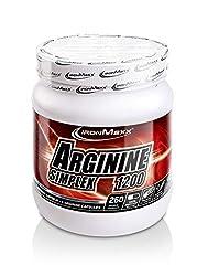 IronMaxx Arginin Simplex 1200 (Sehr hohe Konzentration von L-Arginin Aminosäuren - Ideal für Bodybuilding - Muskelaufbau, Kraftaufbau und Ausdauertraining - Supplement) 260 XXL Kapseln (Tricaps)