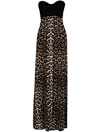 bd3b01b79dfb CHOCOLATE PICKLE ® New Womens Plus Size Grecian Boob Animal Print Long Maxi  Dress 8-