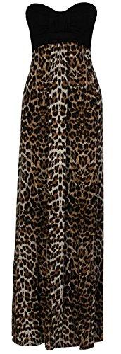 Schokolade Pickle Damen Kleid Plus Größe Grecian Boob Tier Drucken Lang Maxi 8-26 Gr. 26, (Grecian Kleid Plus Größe)