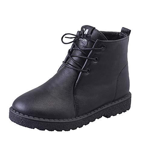 Stiefeletten Damen Schuhe ABsoar Boots Stiefel Frauen Elegant Casual Rund Toe Stiefeletten Flach Boden Knöchel Stiefel Frauen Casual Zipper Stiefel Stiefeletten Party Kurzstiefel Booties