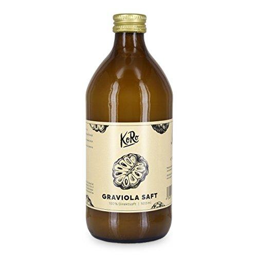 KoRo - Graviola Saft 500 ml - 100{e4a9a259d4c5a33016f505c8948b332337a08291850402396bfc193d4c918b06} Direktsaft aus Graviola in der Glasflasche, das Superfood zum Trinken