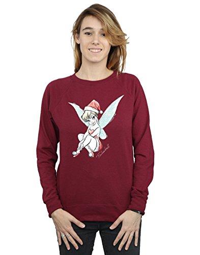 Disney Damen Tinkerbell Christmas Fairy Sweatshirt Small Burgund -