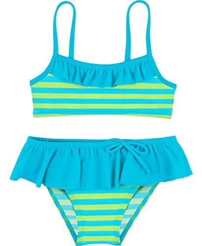 Merry Style Mädchen Bikini Set MSVRKind3 (Blau/Grün, 128) (Boxer Holiday Shorts)