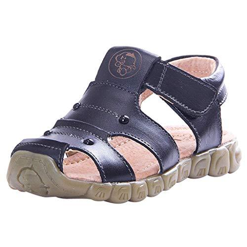 Kaister Kleinkind Sandalen Baby Mädchen Jungen Leder Closed Toe Soft Strand Schuhe Sandalen