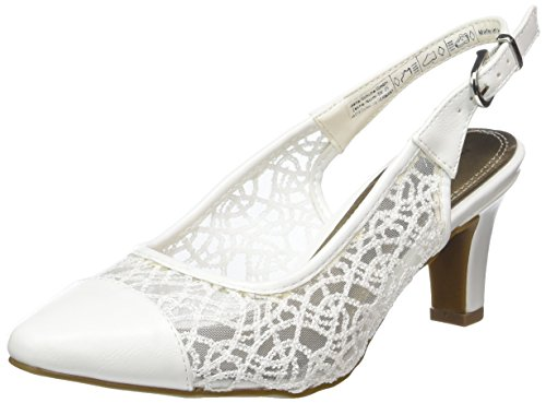 Jane Klain Damen 296 148 Pumps Weiß (WHITE)