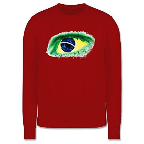 Länder - Auge Bodypaint Brasilien - Herren Premium Pullover Rot