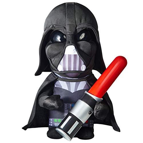 Darth Vader Figur 30 cm mit leuchtendem Schwert Plüschfigur Stofftier ()