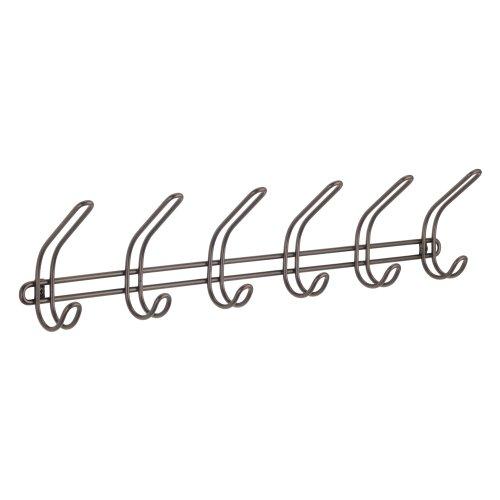 InterDesign Classico Wandhalterung Diele Aufbewahrung Rack für Jacken Wand-Haken Bronze (Wandhalterung Rack Tie)