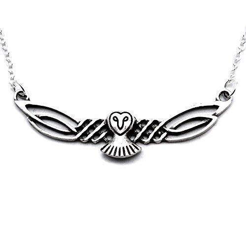 Celtics-halskette (Juwel Eule Anhänger Halskette / Eule / Celtic Viking Pagan / Original Geschenk Frauen Männer)