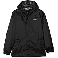 Regatta Pack It Jkt II Chaqueta Impermeable, Infantil, Negro, Talla 7-8