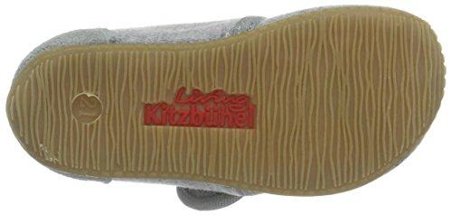 Living Kitzbühel - Baby Klett Uni, Pantofole Bimbo 0-24 Grigio (Hellgrau)