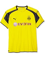 Puma BVB – Camiseta de fútbol International Réplica Camiseta with Sponsor Logo, Cyber Yellow de Black, 3 x l, 749825 11