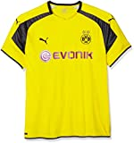 PUMA Herren Trikot BVB international Replica Shirt with Sponsor Logo, Cyber Yellow-Black, 3XL
