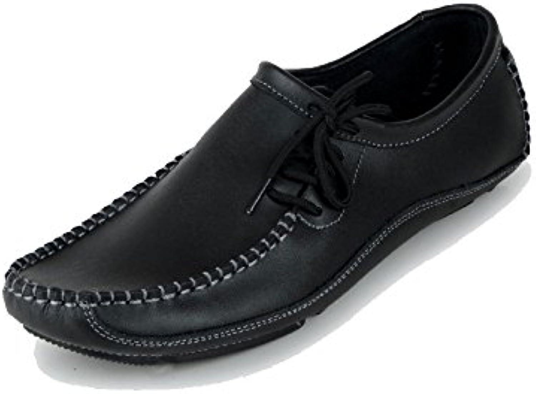 Leder Schuhe der Zufälligen Männer Beschuht Einzelnes Breathable Beleg auf Art  und weissegeschäft