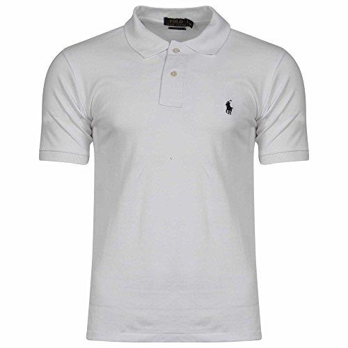 Ralph Lauren Herren Poloshirt, Einfarbig Weiß