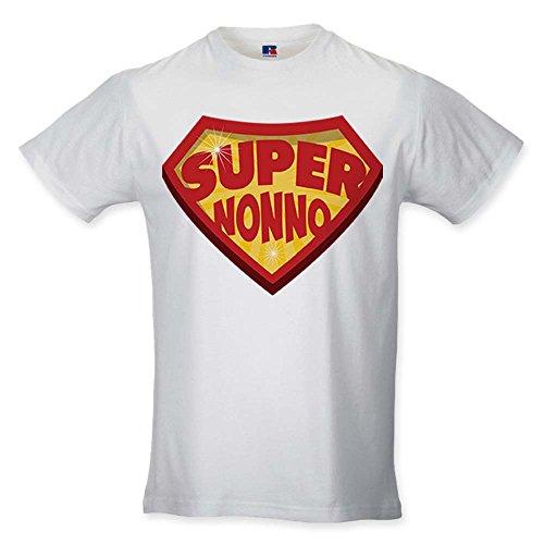 Babloo T Shirt Uomo Idea Regalo Festa dei Nonni Super Nonno