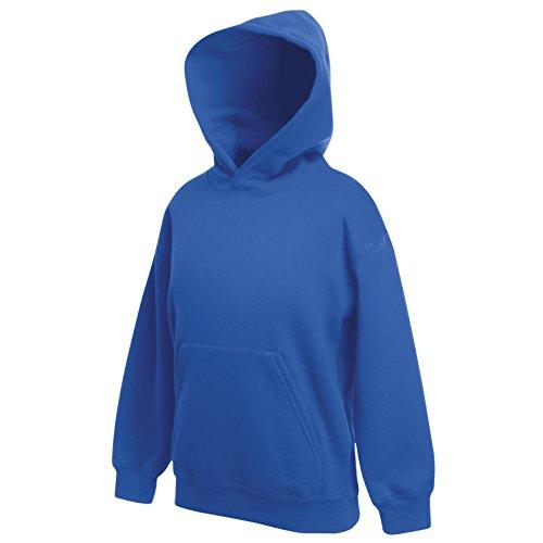 Kinder Hoodies Blau (Fruite of the Loom Kinder Kaputzenshirt, Hoodie, vers. Farben 116,Royal Blau)