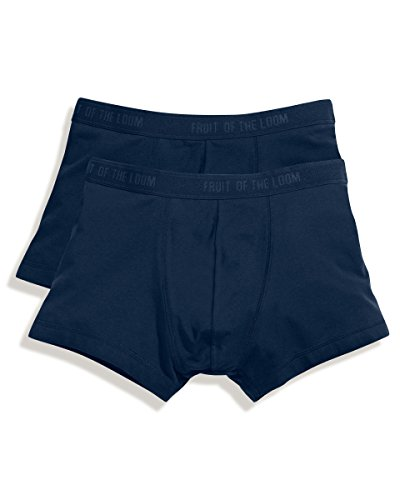 Fruit of the Loom - Classic Boxer 2er Pack Farbe graumeliert Größe XL - Von Herren-unterhosen Fruit The Of Loom