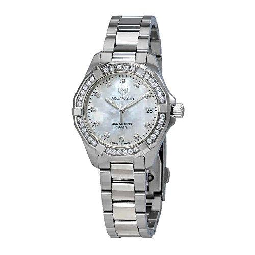 Tag Heuer WBD1315.BA0740 - Reloj de pulsera para mujer con esfera de nácar y diamantes blancos