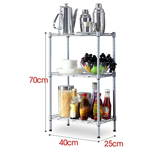 AJZGF Metall Küchenregale Lagerregale Mehrlagige Mikrowelle Regale Gemüseregale (40x25x70 cm) Regal ( größe : L )