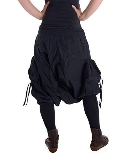 Vishes – Alternative Bekleidung – Stulpen Stiefelhose warm aus Baumwolle Schwarz