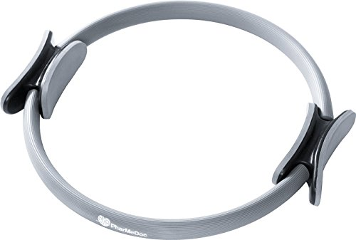 ERollDeep Pilates Ring - Total Body Gym - The #1 Exercise Fitness Circle to Burn Belly Fat & Toning of Abs,Legs, Arms,Thighs, Abdominal and Obliques - Medium Resistance - Dual Gripped Handles - Home Exercise Equipment - Fitness Equipment - 15 Inch