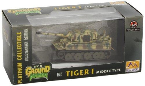 Easy model 36212 - modellino carro armato tiger i del 508° battaglione, italia 1944, scala 1:72