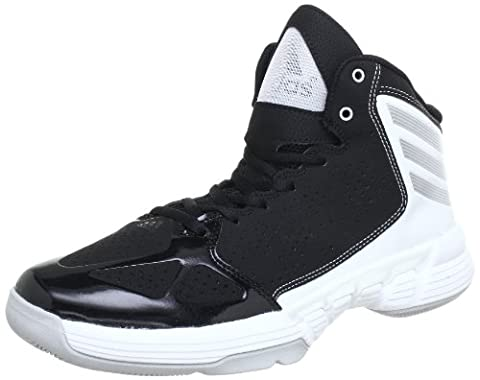 adidas Performance Mens Mad Handle Baseball Shoes Black Schwarz (Black 1 / Metallic Silver / Running White Ftw) Size: 43